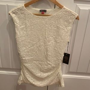 Vince Camuto Ivory Lace top